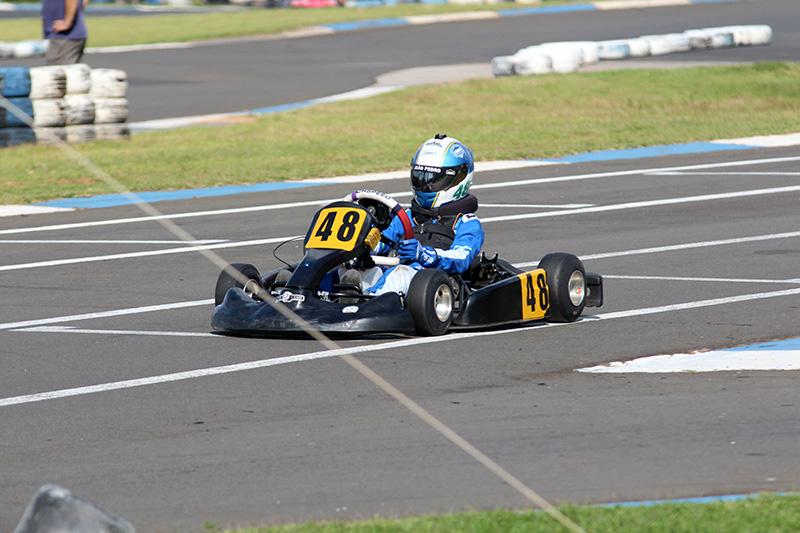 João Pedro é um dos pilotos da categoria Cadete da Copa Sudeste