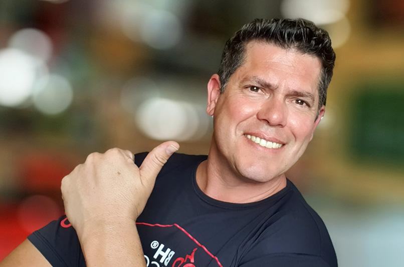 Fábio Guidolin, o Guidola, é o fundador do Bike Hotel Sports
