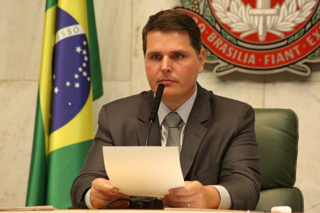Cauê Macris é o presidente da Assembléia Legislativa