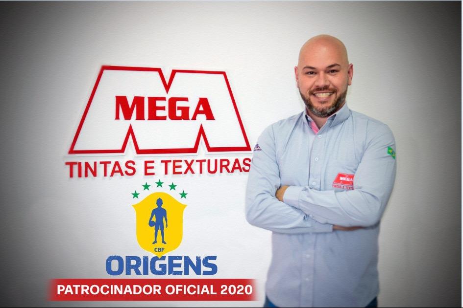 Dado Salau é diretor da Tintas Mega, que recebe selo da CBF