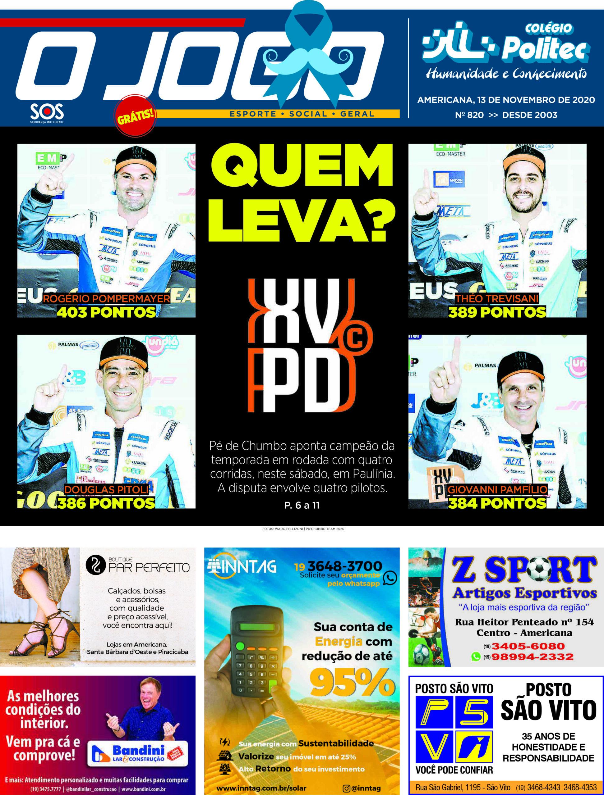 O JOGO 820_capinha