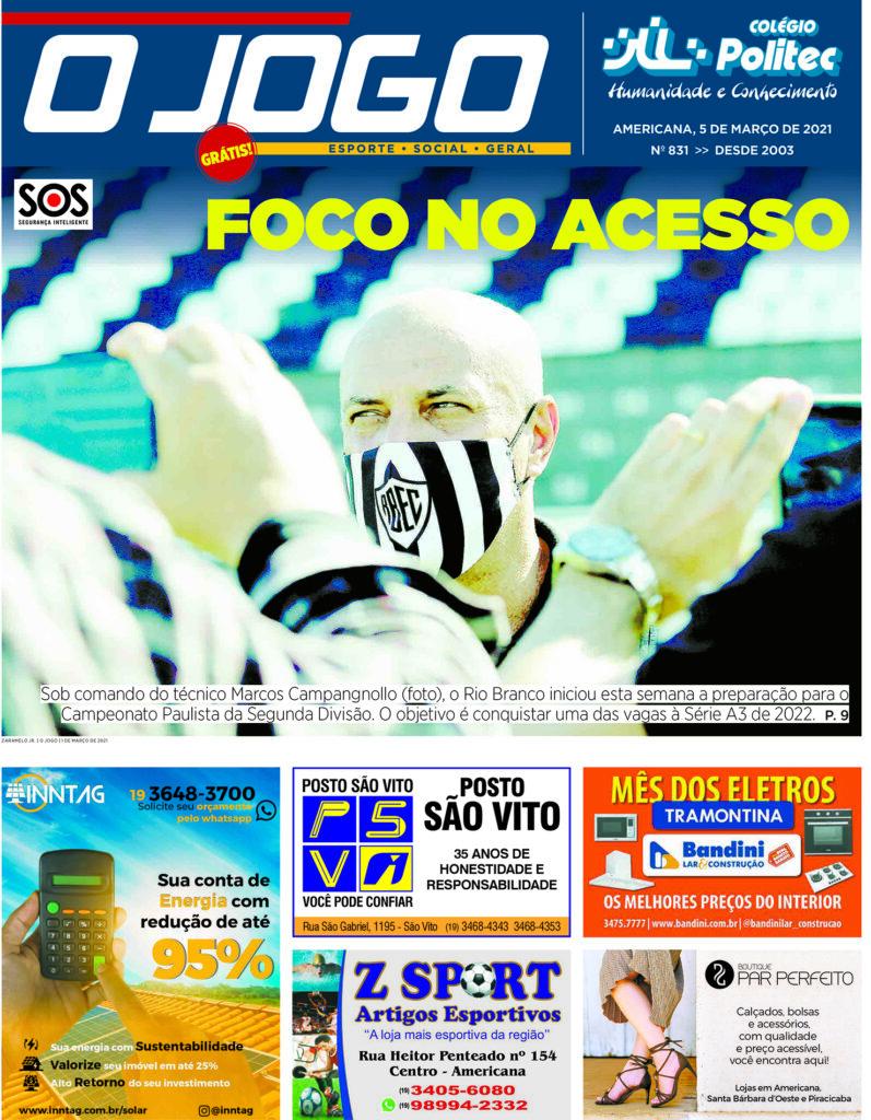 O JOGO 831_capinha