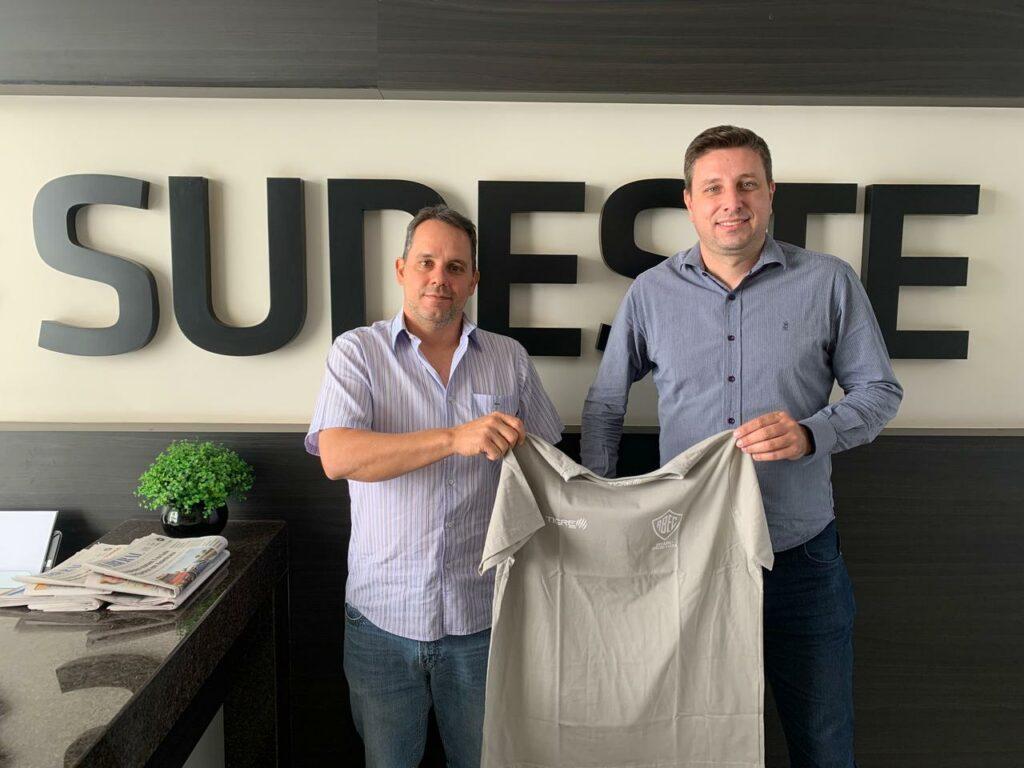 Casagrande e Bonaldo, no início do mês, na sede da empresa Sudeste