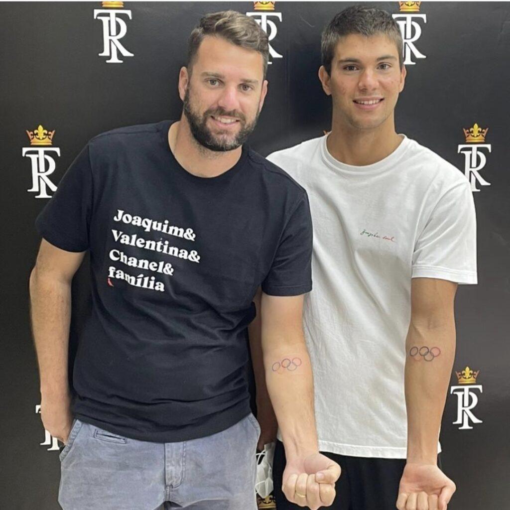 Fábio Cremonez e Murilo Sartori - tatuagem anéis olímpicos
