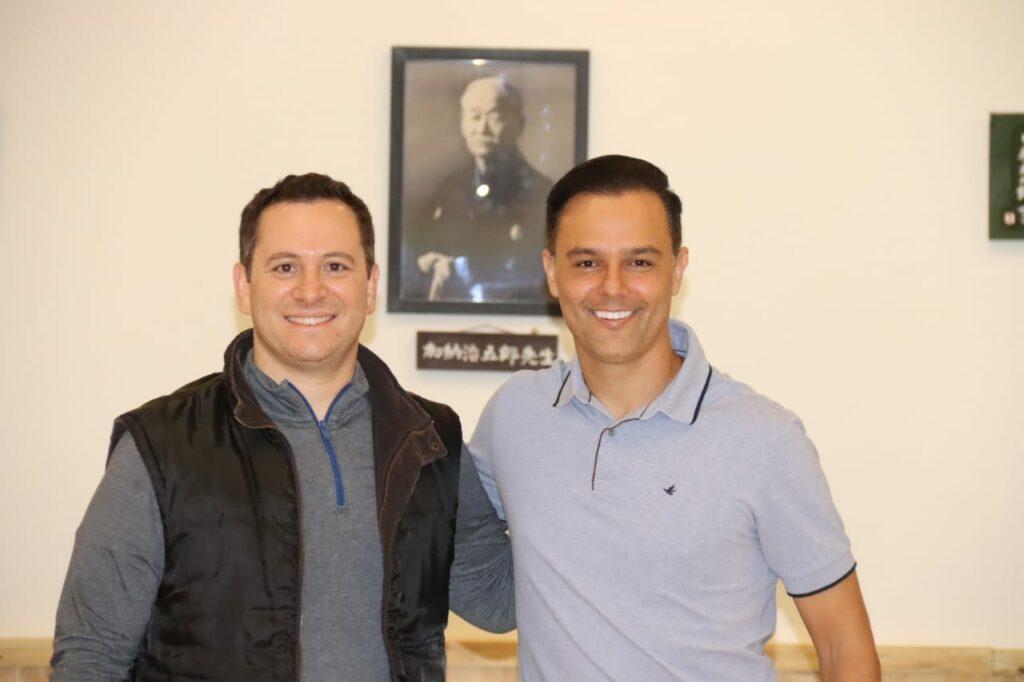 Tiago Camilo e Thiago Brochi se encontraram na semana passada